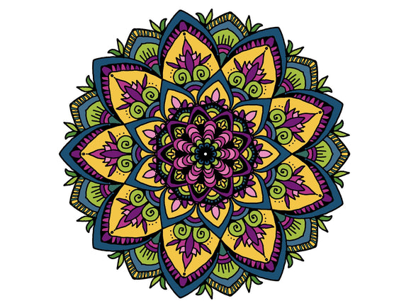 Digital Print Download Art, Mandala Spring Design - Blushing Willow Design Co.