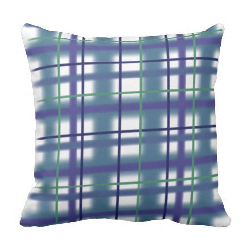 Pillow, Popping Plaid Design - Blushing Willow Design Co.