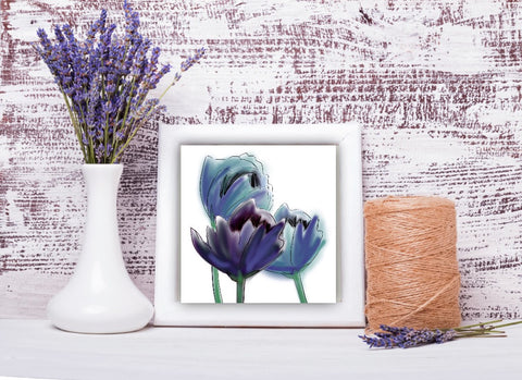"Digital Print Download Art, 'Periwinkle Poppies"" Design - Blushing Willow Design Co."