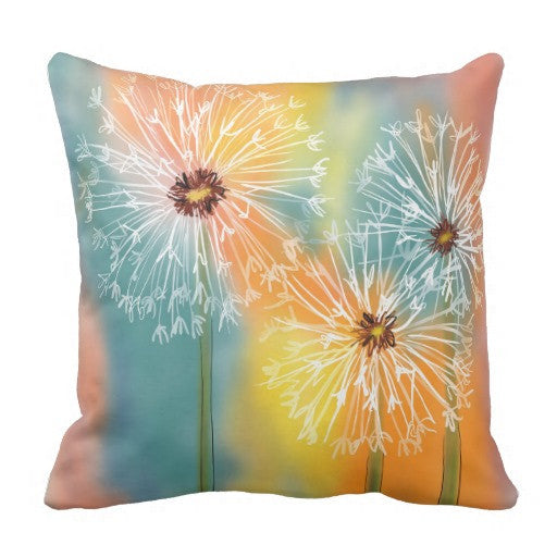 Pillow, Dandelions Design - Blushing Willow Design Co.