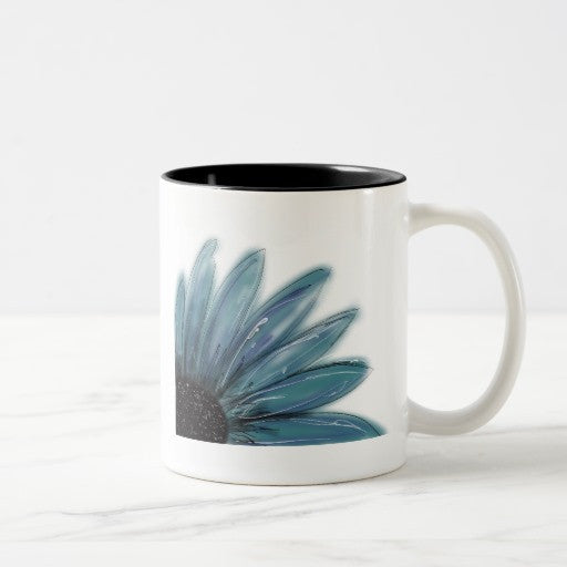 Mug, Ceramic, Blue Daisy, Design - Blushing Willow Design Co.