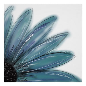 Poster, Blue Daisy - Blushing Willow Design Co.