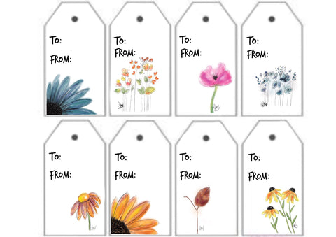 Digital Print Download, Botanical Gift Tags / Labels - Blushing Willow Design Co.