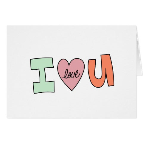 Notecards,  I Love You Design - Blushing Willow Design Co.