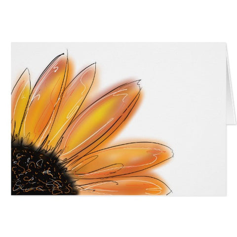 Notecards, Yellow Sunflower Design - Blushing Willow Design Co.