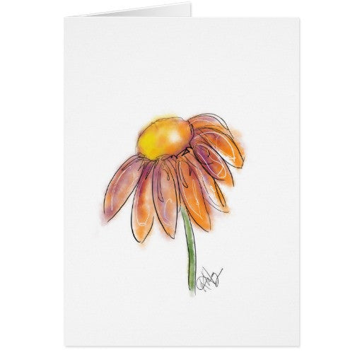 Notecards, Orange Daisy Design - Blushing Willow Design Co.