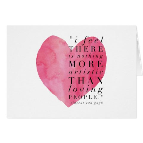 "Notecards, ""I Feel There Is Nothing More Artistic..."" -Van Gogh Quote Design - Blushing Willow Design Co."