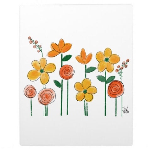 Plaque with Easel, Buttercup Design - Blushing Willow Design Co.