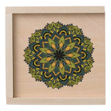Wooden Box, Mandala Blue & Green Design - Blushing Willow Design Co.