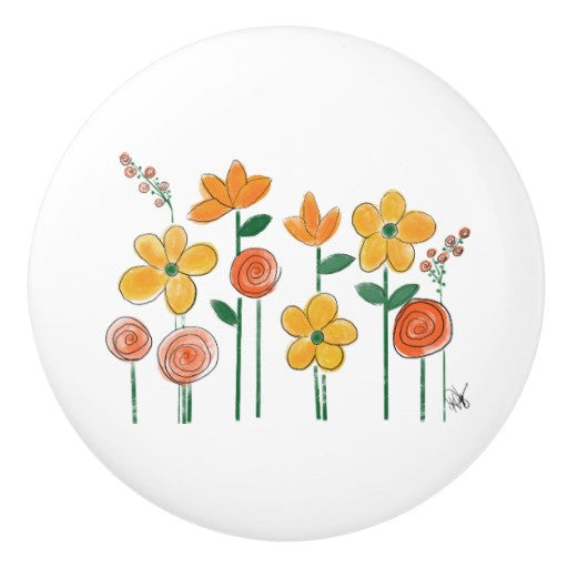 Ceramic Pull, Buttercup Knob - Blushing Willow Design Co.