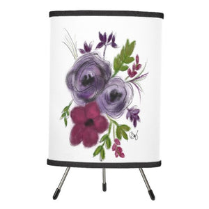 Lamp, Lavander Bouquet Design - Blushing Willow Design Co.