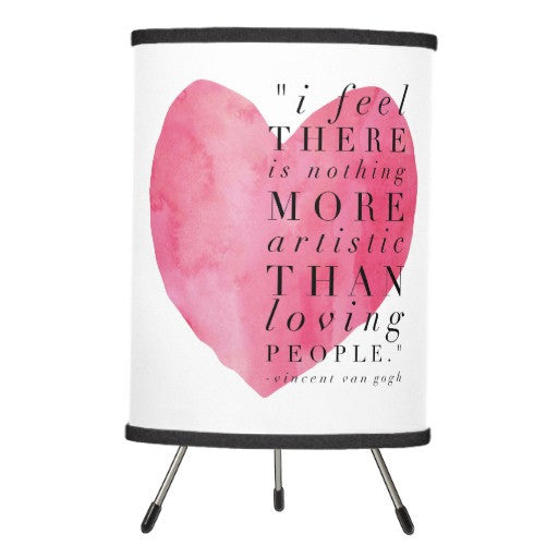 Lamp, Heart with Van Gogh Quote Design - Blushing Willow Design Co.