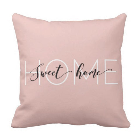 "Pillow, ""Home Sweet Home"" Design - Blushing Willow Design Co."