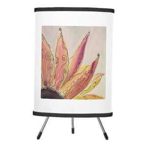 Lamp, Watercolor Whimsy Sunflower, Watercolor Design - Blushing Willow Design Co.