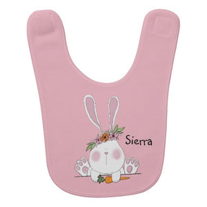 Bib, Some Bunny Loves Me Design - Blushing Willow Design Co.
