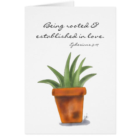 "Notecards, ""Being Rooted & Established in Love"" Design - Blushing Willow Design Co."