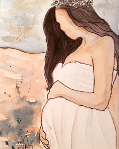"Watercolor, Original  ""Coming Soon"" - Blushing Willow Design Co."