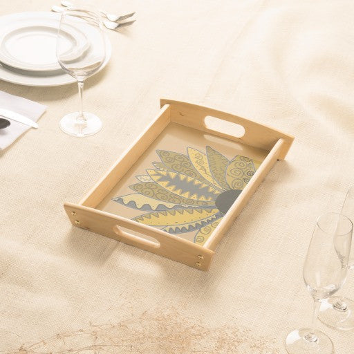Serving Tray, Golden Whimsy Sunflower - Blushing Willow Design Co.