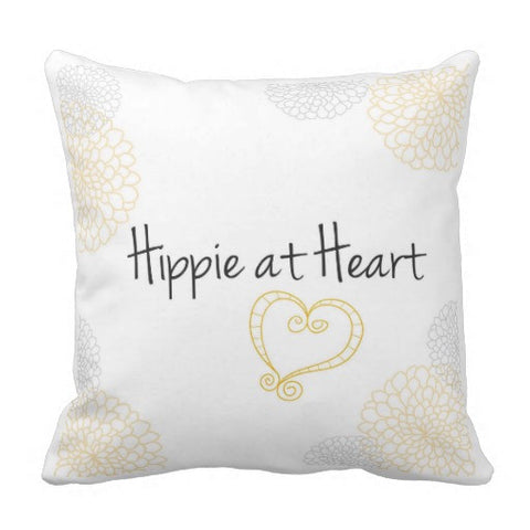 "Pillow, ""Hippie at Heart"" Design - Blushing Willow Design Co."