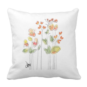 Pillow, Orange Blossoms Design - Blushing Willow Design Co.