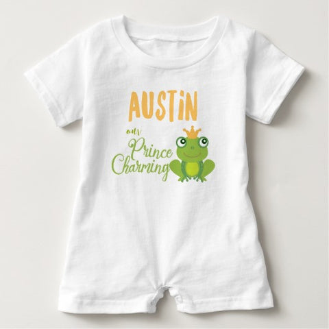 "Romper,  Infant, ""Our Little Prince"" Personalized Design - Blushing Willow Design Co."