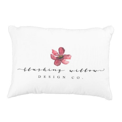 Pillow, Blushing Willow Design Co. Logo - Blushing Willow Design Co.