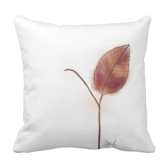 Pillow, Golden Leaf Design - Blushing Willow Design Co.
