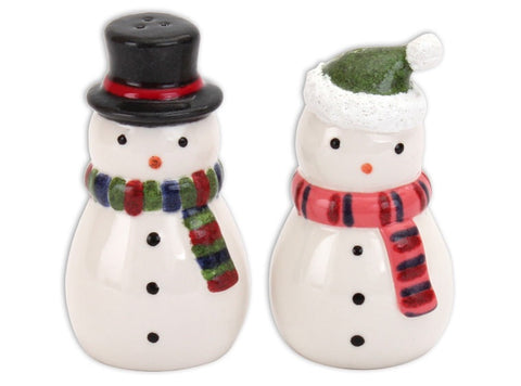 Snowman Salt & Pepper Shaker Set
