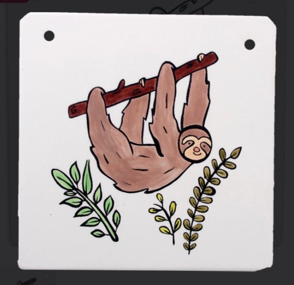 Sloth Plaque