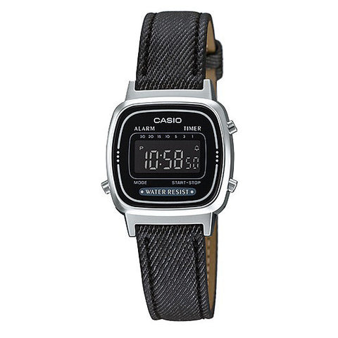 reloj casio denim negro