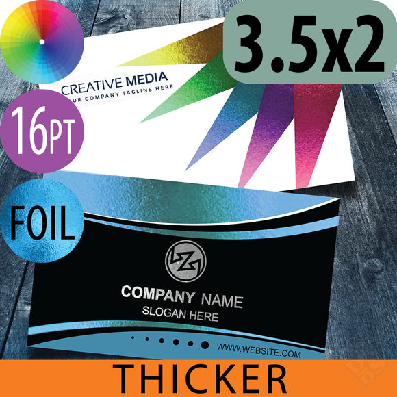 16pt w/FOIL(full color) Business Cards