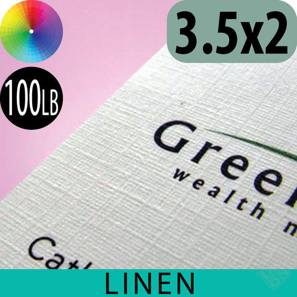 100lb Linen Business Cards, Full Color