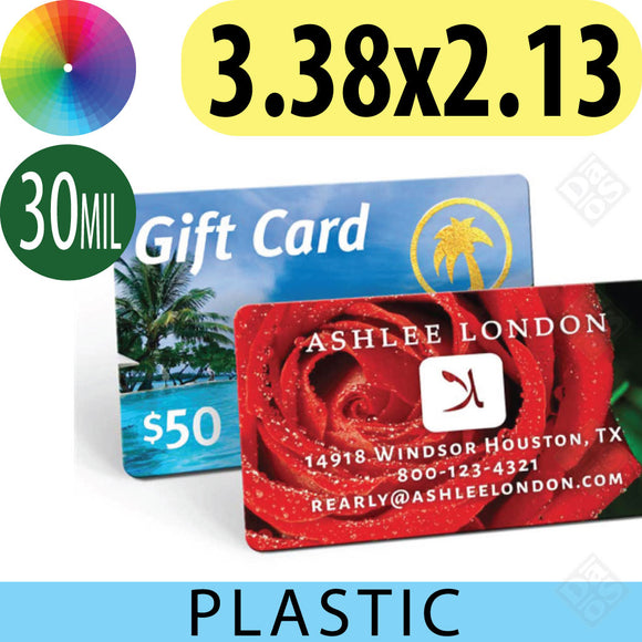 Plastic Credit Card sized Business Cards
