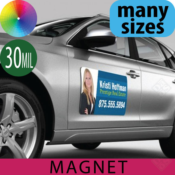 Car Magnets, 30mil, Round Corners
