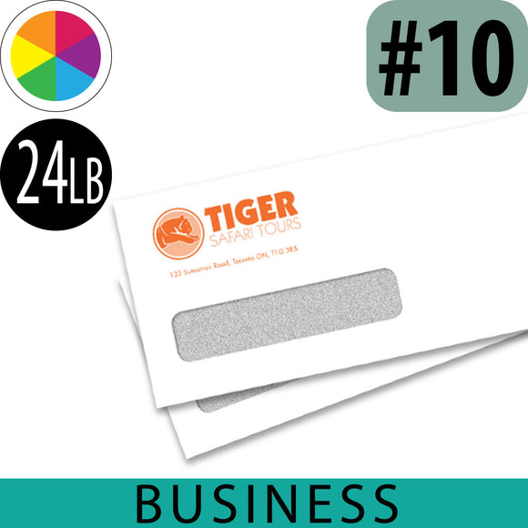 24lb Business Envelope, Spot Color Imprint