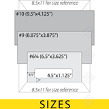 DAOSbiz standard envelope sizes
