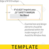 Envelope template for imprint