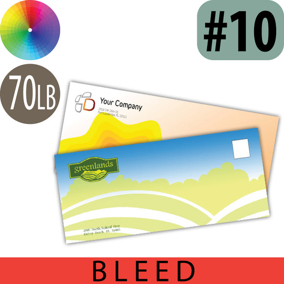 Full Color Envelope with Bleed