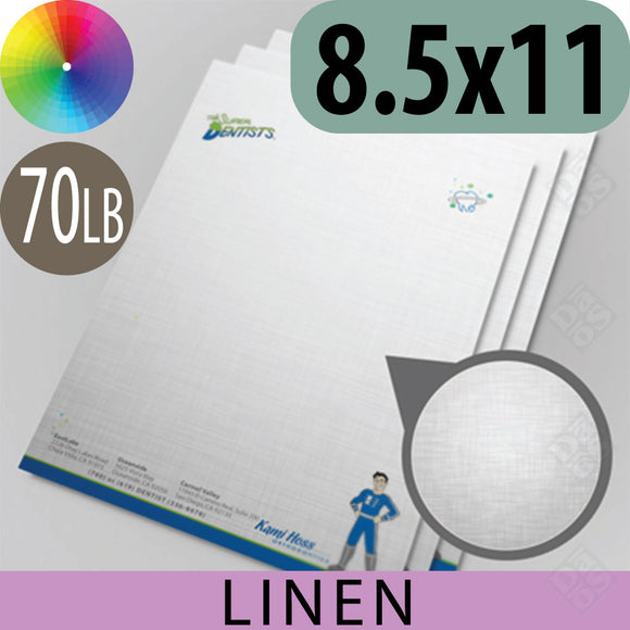 70lb Linen Letterhead, Full Color with Bleed