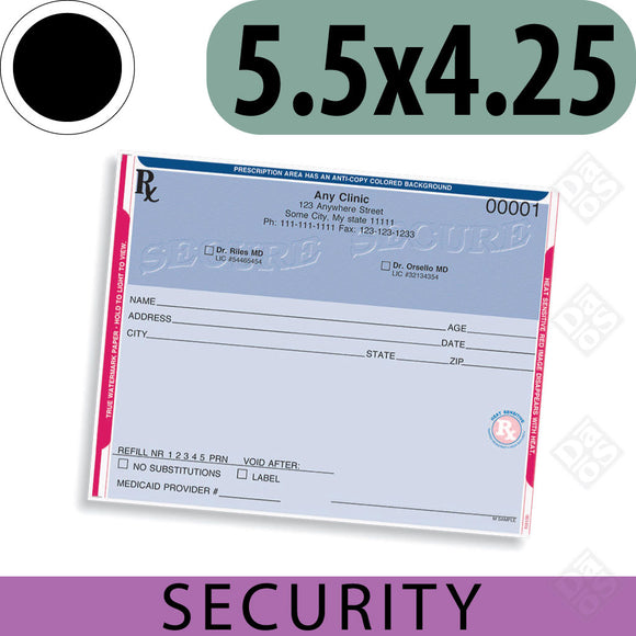 Secure Prescription Rx Pads