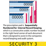 Sequentially Numbered for Internal Record Keeping