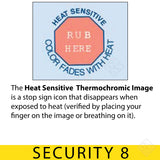 Heat Sensitive Thermochromic Image