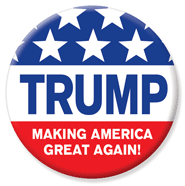 Donald Trump for President 2016 Button