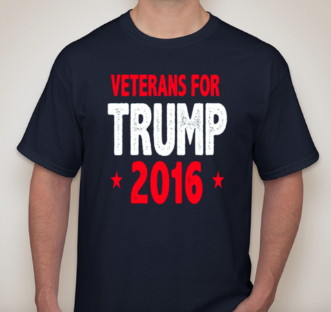 VETERANS for TRUMP Tshirt