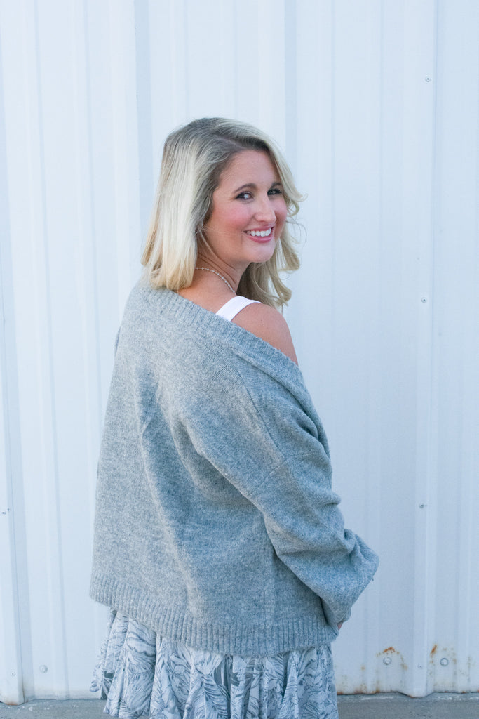 Fireside Cardigan in Grey