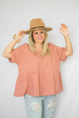 The Hannah Top In Caramel
