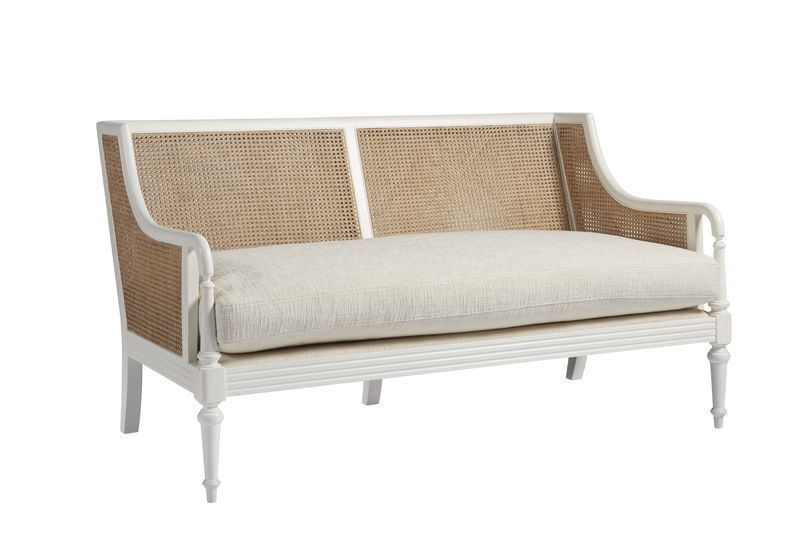 Basket Weave Inlay Love Seat In Store Only