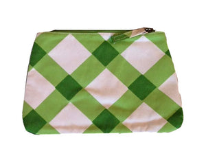 Buffalo Plaid Gingham Travel Bag - Green