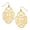 Susan Shaw - Gold Swirl Cut Out Earrings