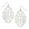 Susan Shaw - Silver Swirl Cut Out Earrings